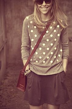 Comfy sweater with skirt.