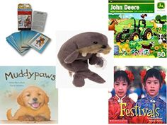 Children's Gift Bundle - Ages 3-5 [5 Piece] - Discover Ancient Greece Riddle Me Playing Card Game - John Deere Springtime Romp 60 Piece Puzzle Toy - Ty Beanie Baby - Jolly the Walrus - Muddypaws Har ** You can find out more details at the link of the image.