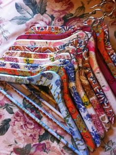 Decoupage: Lovely coat hangers.