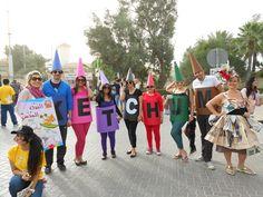 Dubai colleagues turned into human Crayolas for Walk for Education.
