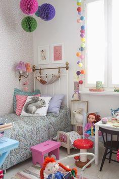 Pippi longstocking girls bedroom in Finland. Girls Bedroom, Bedroom Decor, Childs Bedroom, Kid Bedrooms, Nursery Decor, Ideas Habitaciones, Ideas Dormitorios, Cotton Ball Lights, Deco Kids