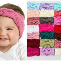 Braided Baby Headband Sailor Knot Bow Knotted Infant   Etsy Baby Girl Hair Bows, Baby Girl Headbands, Newborn Headbands, Baby Bows, Toddler Headbands, Girls Bows, Boho Headband, Wide Headband, Lace Headbands