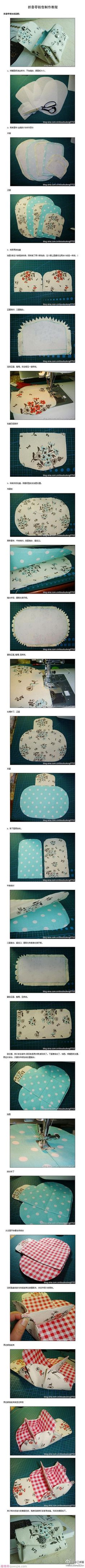The handmade DIY wallet Sewing Hacks, Sewing Tutorials, Sewing Patterns, Purse Tutorial, Diy Tutorial, Photo Tutorial, Diy Trousse, Fabric Crafts, Sewing Crafts