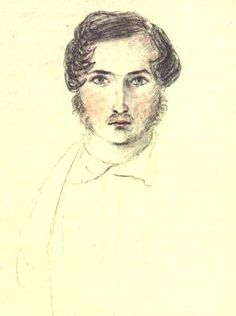 A water color of Prince Albert by Victoria, his biggest fan.