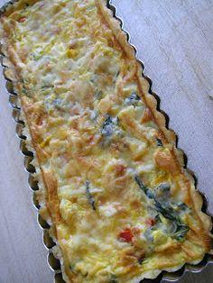 Quiche de gambas con verduras Quiche, Pizza And More, Canapes, Empanadas, Appetizers, Snacks, Breakfast, Desserts, Food