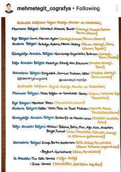 Fenbilimleriyolculugu2018  Mehmetegitcografya instagram takip edebilirsiniz #coğrafya kpss Mathematics, Geography, Istanbul, Notes, Study, Thoughts, How To Plan, Motivation, Education