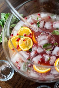 Pomegranate and Orange Champagne Punch - foodiecrush.com