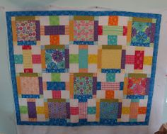 Stack 'Em up Quilt - Intermediate quilters looking for something challenging and artistic will adore this block quilt pattern from @Crafty Gemini and @ModaFabrics. You can even use your scrap quilt leftovers!