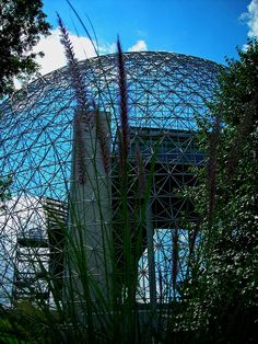 "Biosphere  Montreal ...from Expo '67 Man and his World Pavillion. Now show-cases ""Water and the Environment"""