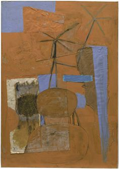 Robert Motherwell, The Poet, 1947. Oil and pasted papers on paperboard, 55-5/8 x 39-1/8 in.