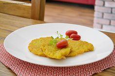 Akademia Ciastek... i nie tylko: Placki ziemniaczane z kurkumą Eggs, Breakfast, Food, Turmeric, Morning Coffee, Egg, Meals, Yemek, Eten