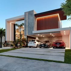 House Outside Design, House Front Design, Cool House Designs, Modern Villa Design, Modern Exterior House Designs, Duplex House Design, Home Building Design, Luxury Homes Dream Houses, Modern Mansion