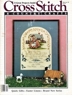 Cross Stitch and Country Crafts March April 1986 Magazine Blueberry Creek Gift Baskets