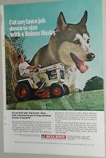 1970 bolens husky lawn tractor advertisement original vintage tractors vintage and husky. Black Bedroom Furniture Sets. Home Design Ideas
