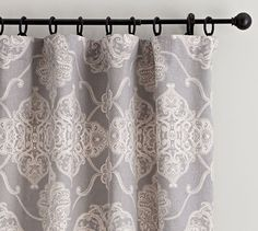 Alana Medallion Linen/Cotton Drape, 50 x 96-108 $87-$95