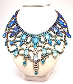 One of a Kind Blue Necklace from Doloris Petunia