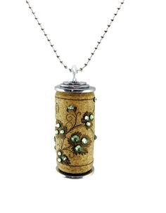 Wine Cork Necklace by Corkdazzle on Etsy, $19.99. Can you say, vineyard wedding bridesmaid gifts?!