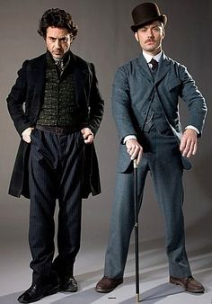 The Detective and the Doctor. (Robert Downey Jr. and Jude Law as Holmes and Watson)
