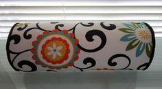 "Bolster Pillow in Suzani ""Pom Pom Play Confetti"" Designer Fabric. $49.99, via Etsy."