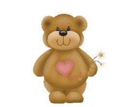 animated gif teddy bear | Teddy Bear with Heart