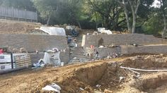 Adding some stairs to #retainingwall in Danville...