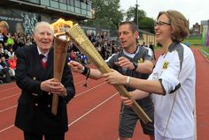Will the the first sub-4-minute miler Roger Bannister light the torch for Great Britain in the Olympics Opening Ceremonies on Friday?