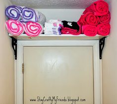 Towel storage for small apartment bathroom