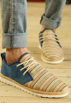 Fringe men's Canvas shoes(Gift) from shoesbox