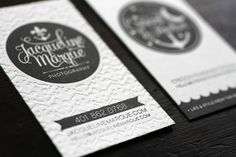 Oh So Beautiful Paper: Crescent & Anchor Letterpress Business Cards