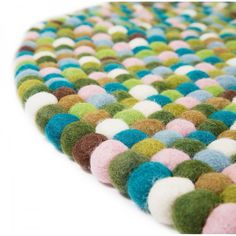 140 cm Round Felt Ball Rug Mystic Green. by FeltTheWonderful, $209.99