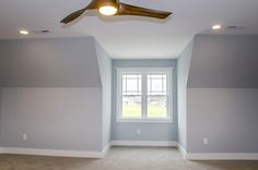Small alcove, perfect for a window seat, in the master bedroom #bedroom #blue #Gardenbrook