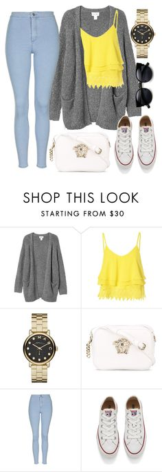"""Untitled #123"" by pehpalad on Polyvore featuring Monki, Glamorous, Marc by Marc Jacobs, Versace, Topshop, Converse, women's clothing, women, female and woman"