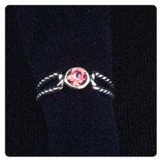 SALE! NEW! Pink Crystal & Sterling Silver Toe Ring 1 DAY SALE!! This 925 Sterling Silver toe ring has a pink crystal center to make it an unique solid piece! This braided toe ring is made with crystals from SWAROVSKI! • NEW!• Tomas Jewelry Jewelry Rings