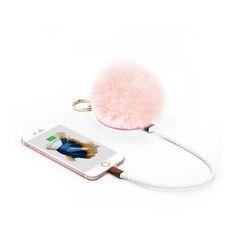 POMPOM Furball Portable Charger, Bag Charm & Mirror