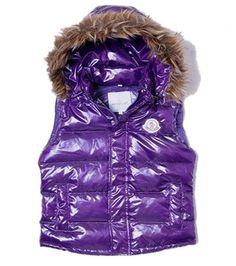 Moncler Casual Women Down Vest Purple [2900237] - £133.59 :