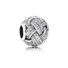 Срібна намистина, куб. оксид цирконію - 791537CZ