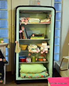 From a vintage refrigerator to a great new storage area.....