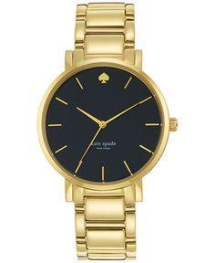 kate spade new york Women's Gramercy Grand Gold-Tone Stainless Steel Bracelet Watch 38mm 1YRU0547 - Kate Spade - Jewelry & Watches - Macy's