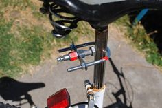 No Weld Bicycle Trailer Hitch: This is a complementary instructable to the No Weld Bike Trailer. This instructable will show you a quick air hose coupling based trailer hitch, that connects to that trailer. Kayak Trailer, Trailer Diy, Trailer Hitch, Bike Trailers, Dog Trailer, Pimp Your Bike, Bike Cart, Bike Hitch, Hardtail Mountain Bike
