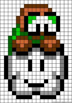 Mario Perler Bead Pattern