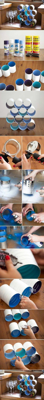 idée-bricolage-comment-fabriquer-un-casier-à-bouteilles-recyclage-noite-de-conserve-customisée-à-la-peinture-rangement-diy-pour-bouteilles-de-vin-cadeau-fête-des-pères-à-fabriquer