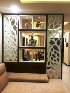 Wall Decor Ideas In Your Living Room Best Of Saved by Radha Reddy Garisa Dream H. - Findzhome Home Decor - Indian Living Rooms Room Partition Wall, Living Room Partition Design, Living Room Divider, Room Partition Designs, Living Room Tv Unit Designs, Living Room Decor, Partition Ideas, Room Partitions, Indian Living Rooms
