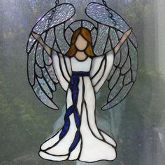 Stained Glass Angel 11 Tall Praise by StainedGlassElegance
