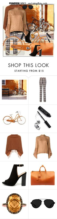 """Pumpkin Spice Style"" by esch103 ❤ liked on Polyvore featuring WALL, Giambattista Valli, Bobbi Brown Cosmetics, Samoon, Marco de Vincenzo, Bamboo, Louis Vuitton, 3.1 Phillip Lim and pss"