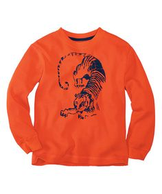 This Orange Spice Tiger Thermal - Infant, Toddler & Boys by Hanna Andersson is perfect! #zulilyfinds