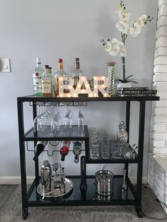 Created this look with Overstock, Target, HomeGoods, Party City, and Macy's. Home Bar Decor, Bar Cart Decor, Home Living Room, Living Room Designs, Living Room Decor, Living Room Inspiration, Home Decor Inspiration, Dream Home Design, House Design