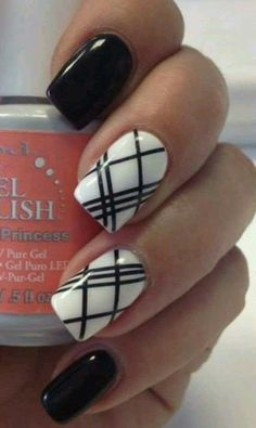 Simple Nail Designs, Nail Art Designs, Gel Nail Polish, Gel Nails, Black French Manicure, Nails Now, Striped Nails, Dream Nails, Manicure And Pedicure
