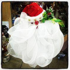 Santa Deco Mesh Wreath.  $26.99  Facebook.com/rodenimports