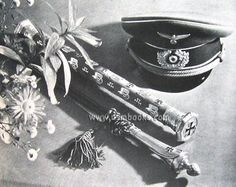 Erwin Rommel's baton, on the day of his funeral. (1944).