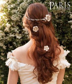 Pairs long boho wedding hairstyle